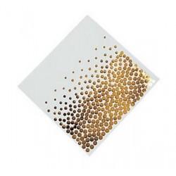 Servetten wit met gouden stippen