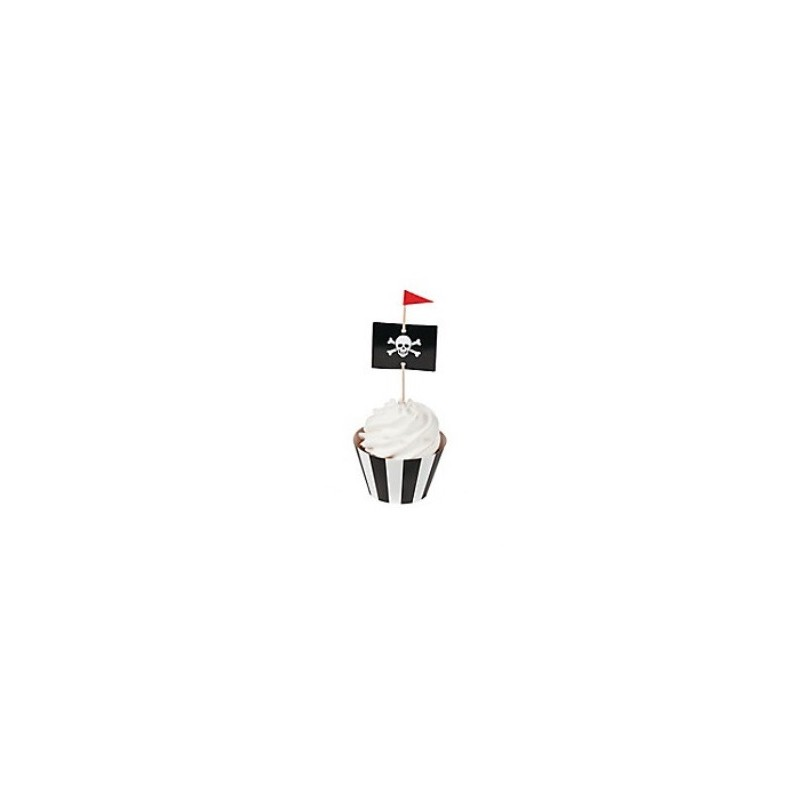 Cupcake toppers pirate flag