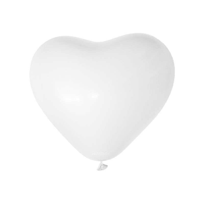 Witte hart ballonnen