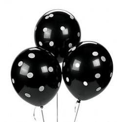 Ballonnen zwart met witte stippen