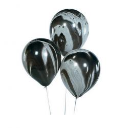 Ballonnen zwart marmer