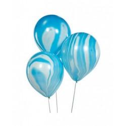 Ballonnen blauw marmer