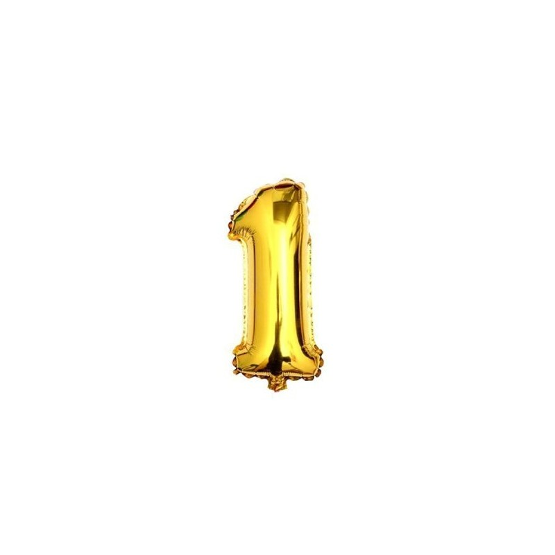 Folieballon nummer 1 goud