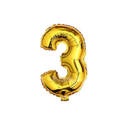 Folieballon nummer 3 goud