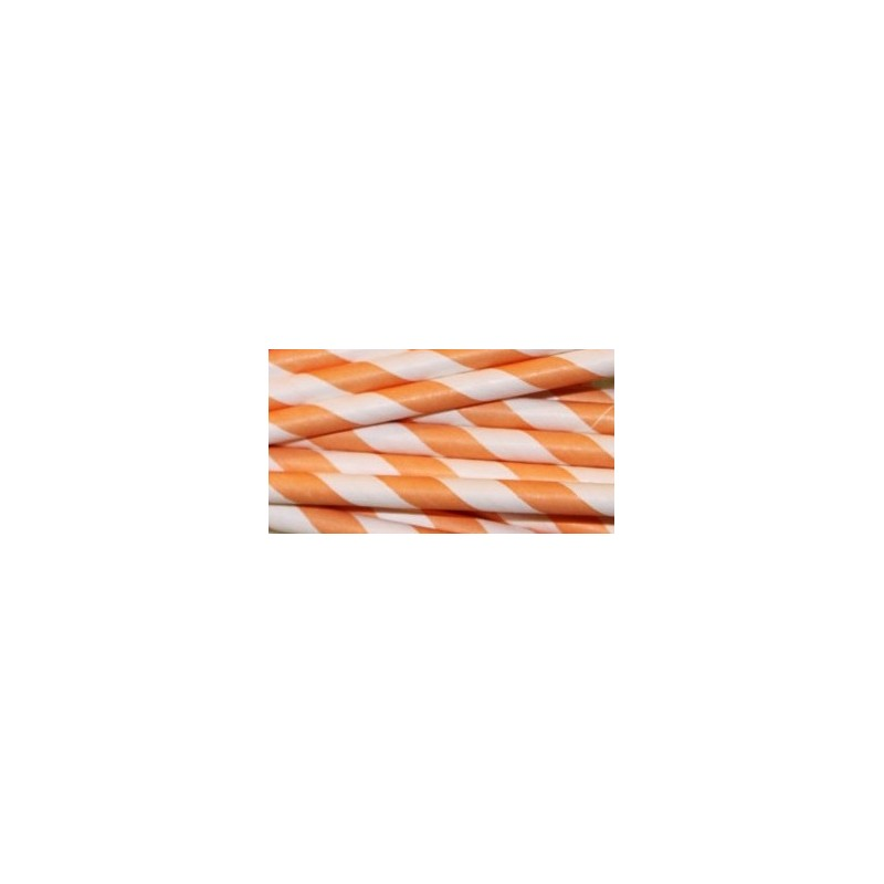 Paper straws orange striped @joyenco.nl