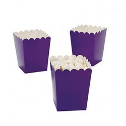Kleine popcorn bakjes paars @joyenco.nl