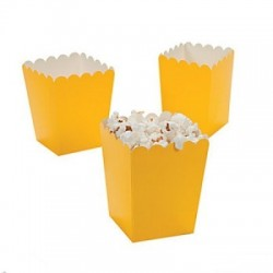 Kleine popcorn bakjes geel