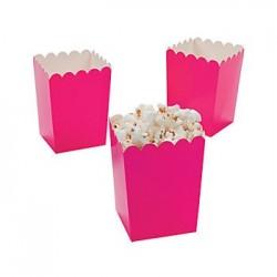 Kleine popcorn bakjes knalroze