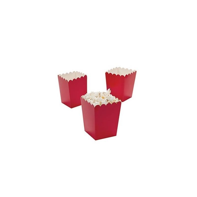 Kleine popcorn bakjes rood