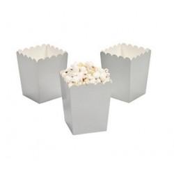 Kleine popcorn bakjes zilver