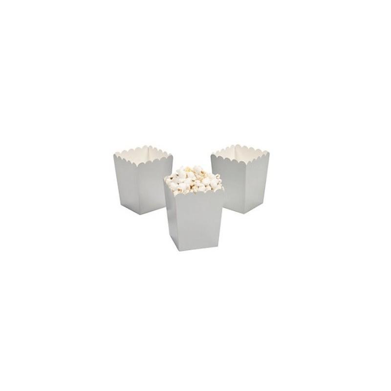 Mini popcorn boxes silver