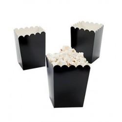 Kleine popcorn bakjes zwart @joyenco.nl € 2,25 per 6 stuks