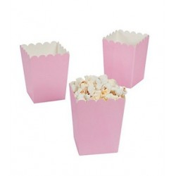 Kleine popcorn bakjes babyroze
