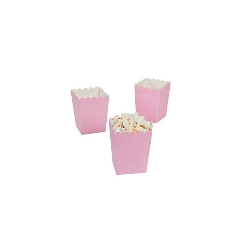 Mini popcorn boxes pink