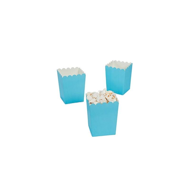 Kleine popcorn bakjes lichtblauw