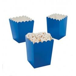 Kleine popcorn bakjes blauw