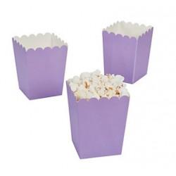 Kleine popcorn bakjes lila