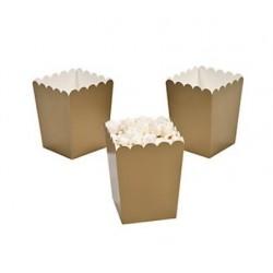 Kleine popcorn bakjes goud