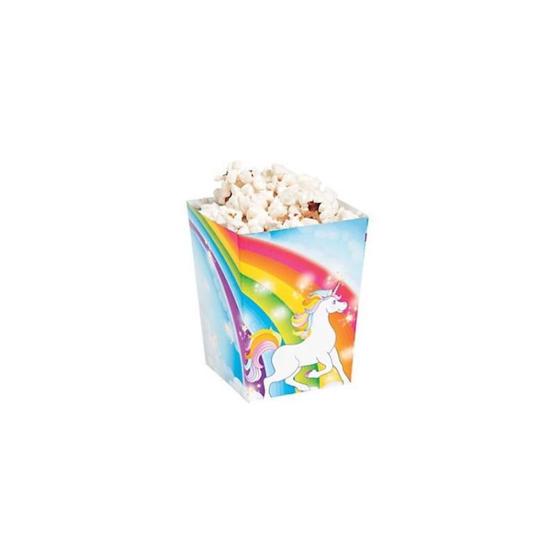 Kleine popcorn bakjes eenhoorn
