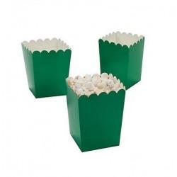 Mini popcorn boxes green