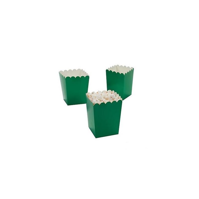 Kleine popcorn bakjes groen