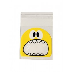 Treat bags monster yellow