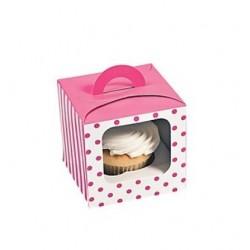 Cupcake box pink