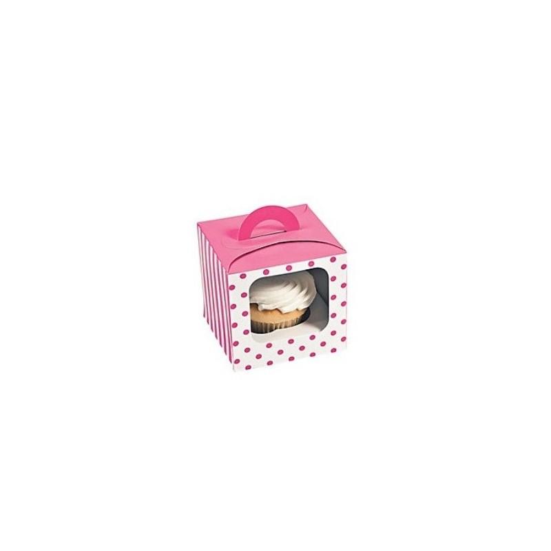 Cupcake doosje roze