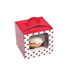 Cupcake doosje rood