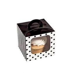 Cupcake doosje zwart
