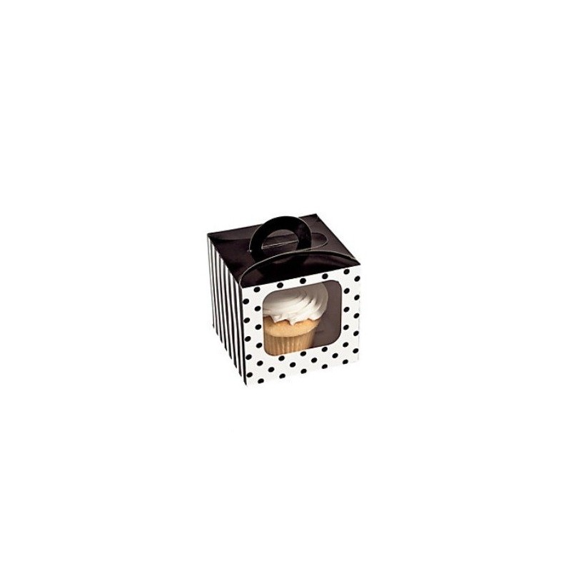 Cupcake box black